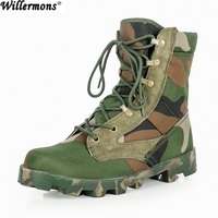 Outdoor Special Force Men's Camouflage Army Combat Work Boots Shoes Men Military Tacitical Safety Shoes Botas Tactics
