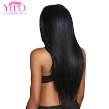 hot deal buy yelo hair brazilian straight human hair 4 bundles 100% non remy human hair weaves bundles natural color 8-26 inch free shipping