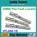 3 unids/lote de Fibra de Láser Rojo Probador del Cable Óptico-Localizador Visual 20 mw (valores: 20 km) VFL650-1S