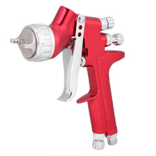 professional spray gun gfg red HVLP car paint gun 1.3mm automotive Gravity feed painting tools sat1164 free shipping gravity feed air spray gun 1 3 1 4mm gravity feed hvlp paint spray gun for car face paint