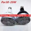 Osram 35W E27 Par30 LED Bulb lamp fan inside 85-265V Warm White/Cold White LED spot light, Par 30 E27 led lighting 1pc free ship