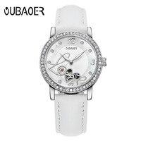 Brand Luxury Rose Gold Women Watches Ladies Mechanical Clock Girl Casual Watch Women OUBAOER Wrist Watch