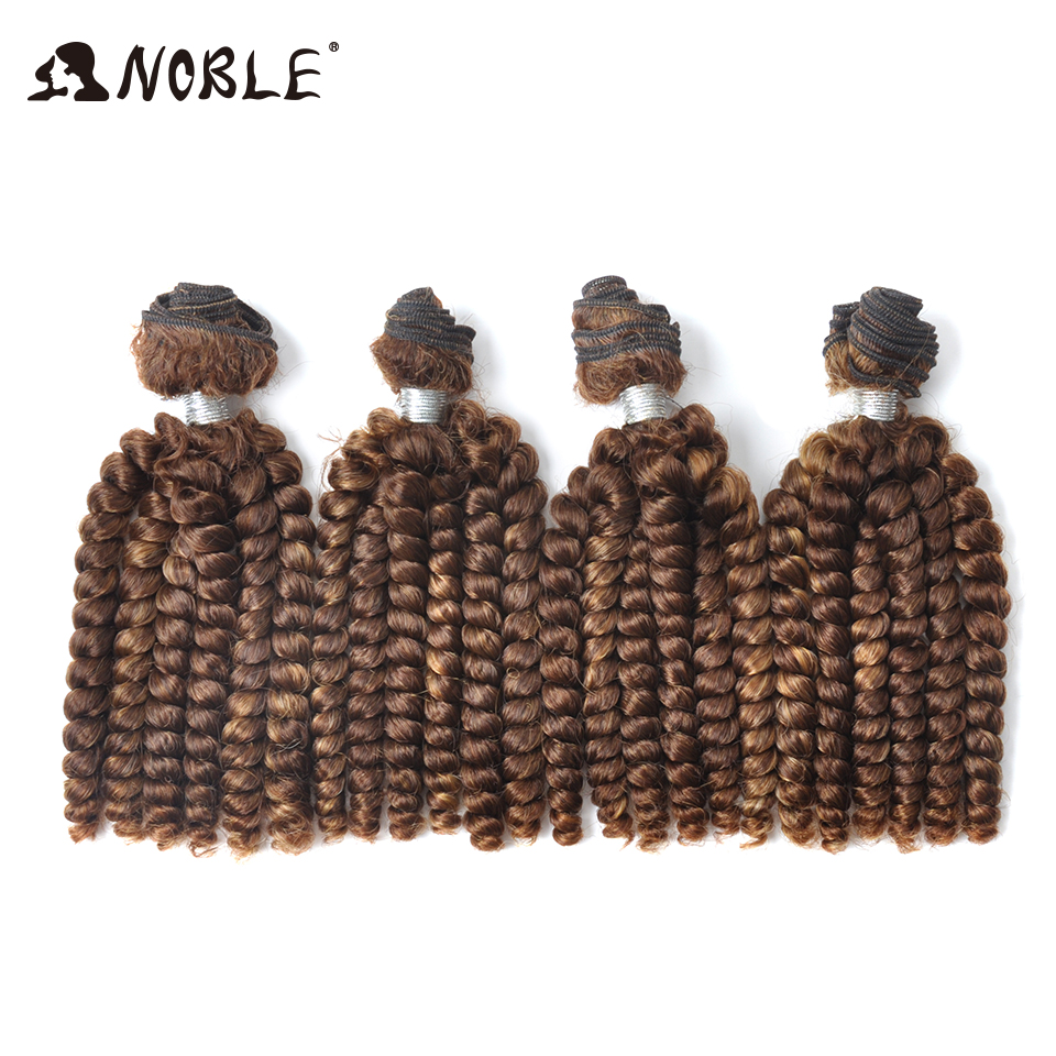 Noble Hair Weaves 22Inch Synthetic Hair Extension 200g/set 4pcs Black Ombre High Tempera ...