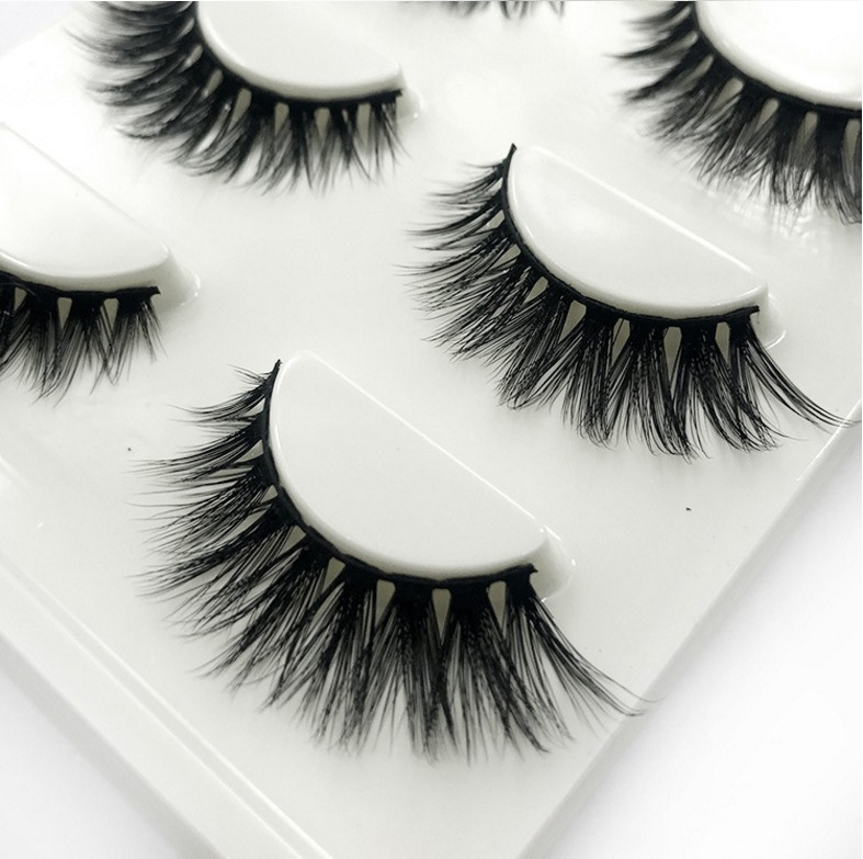 HBZGTLAD Sexy 100% Handmade 3D mink hair Beauty Thick Long False Mink Eyelashes Fake Eye Lashes Eyelash High Quality 302