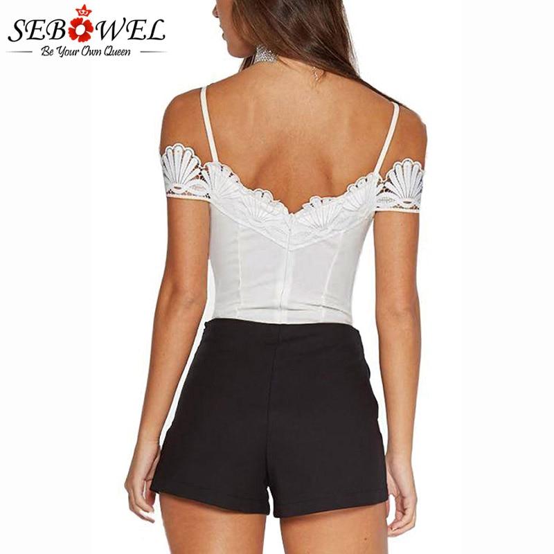 White-Crochet-V-Neckline-Off-shoulder-Bodysuit-LC32207-1-2