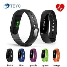 Teyo Smartband ID101 Bluetooth Спорт Браслет Сердечного ритма Сна Монитор Артериального Давления SMS Синхронизации Умный Браслет для Android И iOS