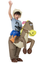 New childrens inflatable pony costume show dinosaur cosplay play