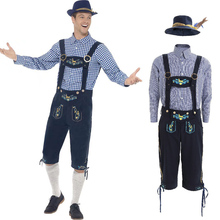 Traditional Bavarian Oktoberfest Shorts Lederhosen Adult Mens German Beer Costume Carnival Party Outfit