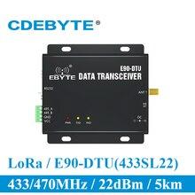 SX1262 SX1268 E90 DTU 400SL22 لورا 22dBm مودم RS232 RS485 433MHz RSSI التتابع IoT vhf وحدة RF اللاسلكية الارسال والاستقبال