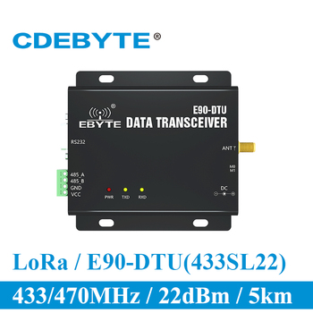 SX1262 SX1268 E90-DTU-400SL22 LoRa 22dBm Modem RS232 RS485 433MHz RSSI Relay IoT vhf Module RF Wireless Transmitter and Receiver sx1262 sx1268 lora modem module rs232 rs485 25w wireless transceiver 433mhz long range 40km relay network cojxu e90 dtu 400sl44
