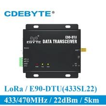 SX1262 SX1268 E90 DTU 400SL22 LoRa 22dBm модем RS232 RS485 433 МГц RSSI реле IoT модуль vhf RF беспроводной передатчик и приемник