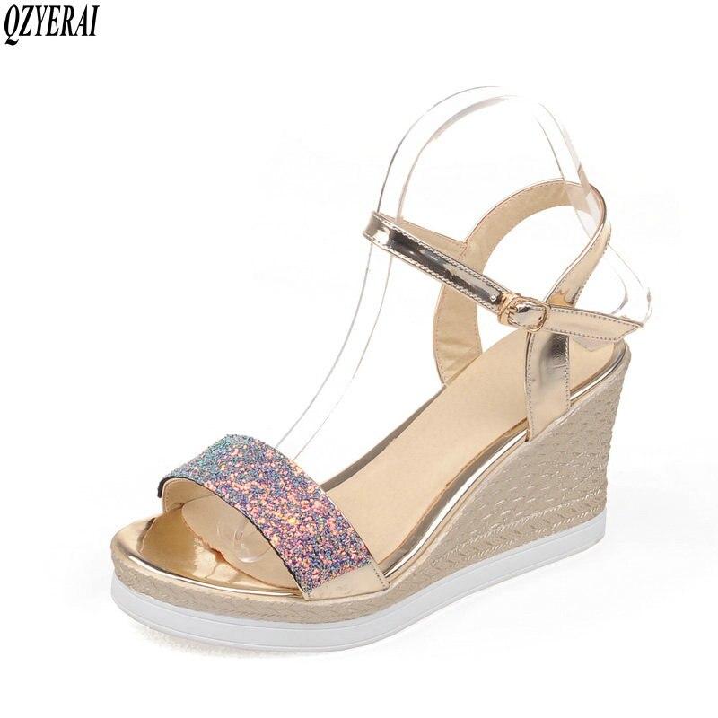 QZYERAI 2018 Summer Fashion Beautiful Sexy Comfortable Open Toe Buckle Sandals Anti-slip TPR Sandals Women's Shoes Size 34~39 qzyerai new to summer summer sexy
