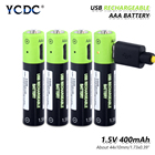 USB Rechargeable Battery 400mAh AAA Charger Cable li-polymer li-po USB rechargeable lithium li-ion usb battery USB cable pack