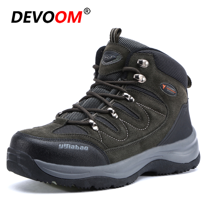Hiking Shoes Men Winter hombre New Hot Style Tracking Sports Shoes Warm Fur Snow Boots Climbing