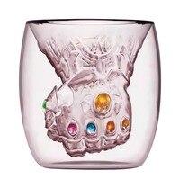 De Infinity Gauntlet Thanos Glas Fist Cup Komen met EEN Koele Thanos Masker voor Koffiekopje Melk Mokken Geschenken voor marvel Funs-in Transparant van Huis & Tuin op