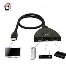 Мини-разветвитель с 3 портами и кабелем адаптера 1.4b 4K * 2K 1080P HDMI-совместимый коммутатор 3 в 1 хаб с выходом для HDTV Xbox PS3 PS4