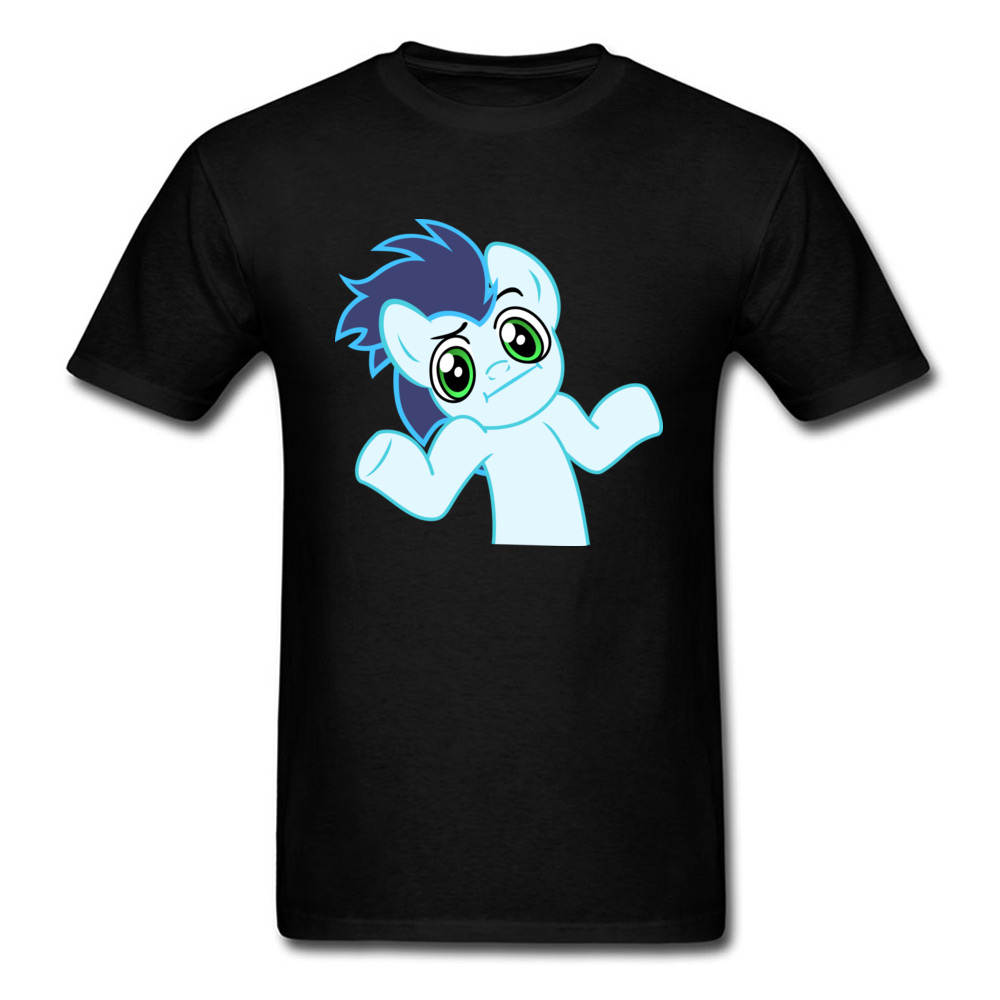 Shrug Horse Cartoon T-shirt 2018 Newest Funny Design Men Tops T Shirt Short Sleeve Fashion Black Clothes For Boyfriend