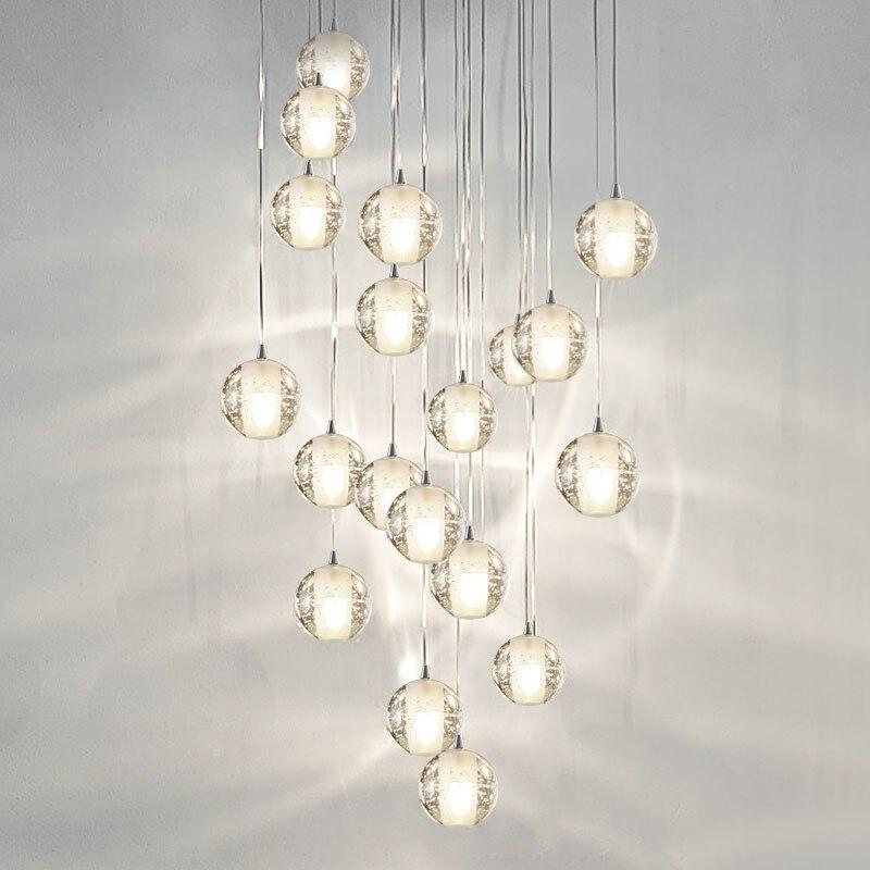 Современные G4 LED pandant огни несколько лестницы Лампы для мотоциклов светильники Мода, живущих Спальня decora Ресторан Кухня Освещение