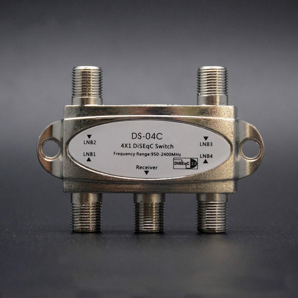 Original Zinc TV DiSEqC Switch 4x1 DiSEqC Switch Satellite Antenna Flat LNB Switch For TV Receiver