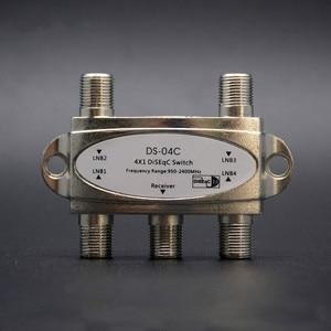 Image 1 - オリジナル亜鉛テレビ diseqc はスイッチ 4 × 1 の diseqc 衛星アンテナフラット lnb スイッチテレビ受信機用
