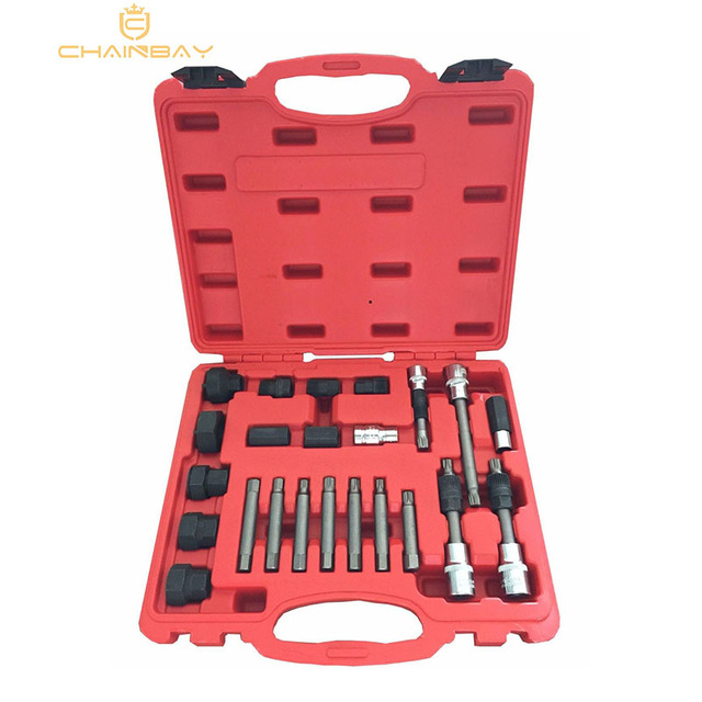US $36 22 |24 PCS ALTERNATOR PULLEY REPAIR TOOL KIT AUTOMOTIVE TOOLS-in  Engine Care from Automobiles & Motorcycles on Aliexpress com | Alibaba Group