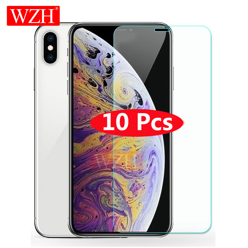 10Pcs Tempered Glass For On IPhone 8 Plus Screen Protector For IPhone 7 8 Plus Glass Film For IPhone X XS MAX 6 6s 7 8Plus 5 5S