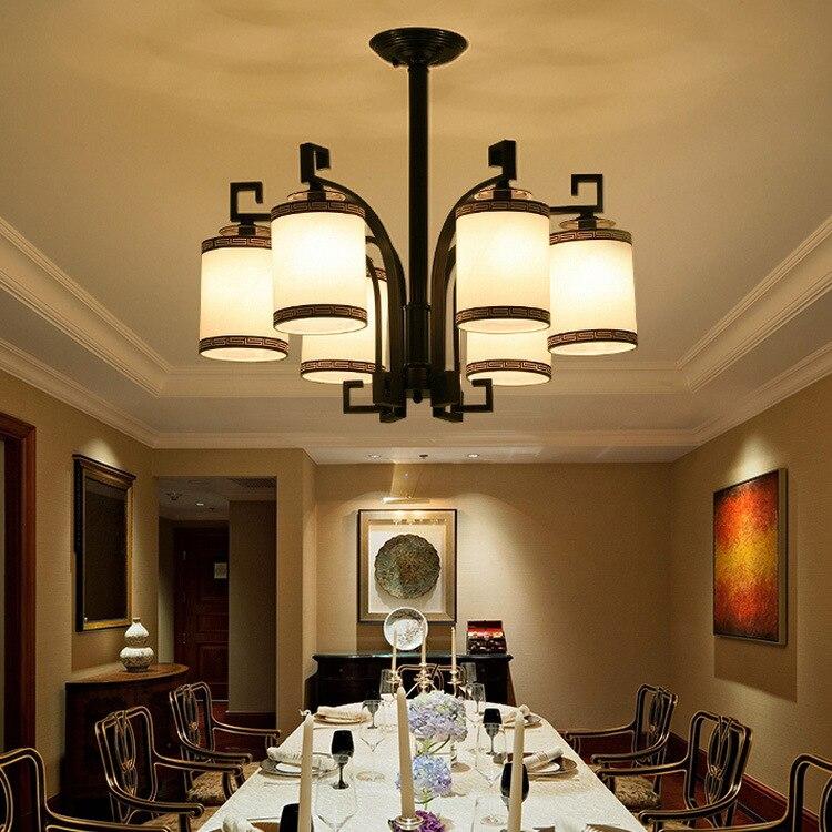 Chinesischen Stil Eisen Moderne Wohnzimmer Lampen Chinesische Antike Pendelleuchte Lampe Schlafzimmer Restaurant ZX80