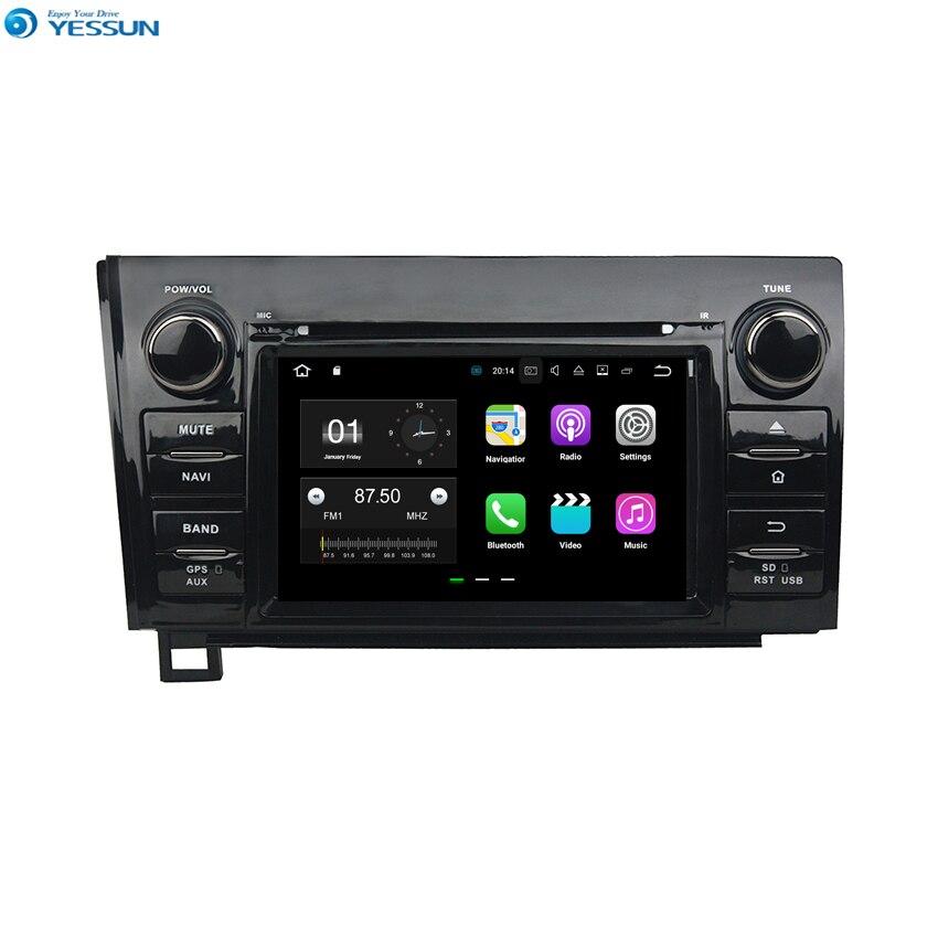 YESSUN Android GPS de Navigation de voiture pour Toyota Tundra/Sequoia 2010 ~ 2012 Audio vidéo Radio stéréo lecteur multimédia HD.