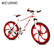 Mountain Bike 21 Speed 26 Inch Bicycle Double Disc Brake One Wheel Variable Speed Bicycle Carbon Steel MTB Bike Cycling Bicycle