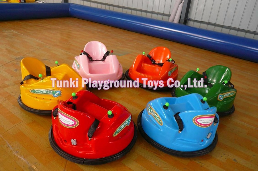Amusement Park Kids Ride UFO Stainless Steel Inflatable Ground Net Bumper Car