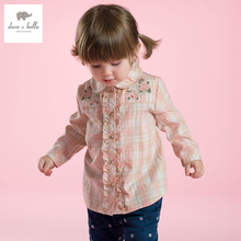 DB2892 dave bella autumn baby girls shirt girls lolita tops baby cotton tops baby tops baby