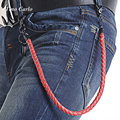 "25""- New Summer Fashion Jeans Wallet Chians Leather Braid Belt Chain Punk Men Women Fashion Single Layers Trousers Chain KB52"