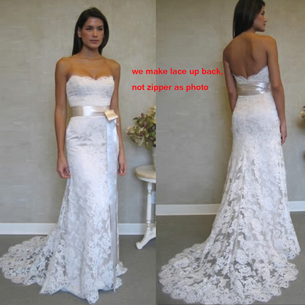 ANGELSBRIDEP 2017 Sexy Lace Mermaid Bridal Gown Wedding Dress Women Clothing Set Long Stock In Dresses From Weddings Events On Aliexpress