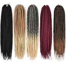 Alileader продукты Коробка плетеные волосы для наращивания 12 16 20 24 30 дюймов Синтетические вязанные волосы плетение твист косички 22 пряди/упаковка