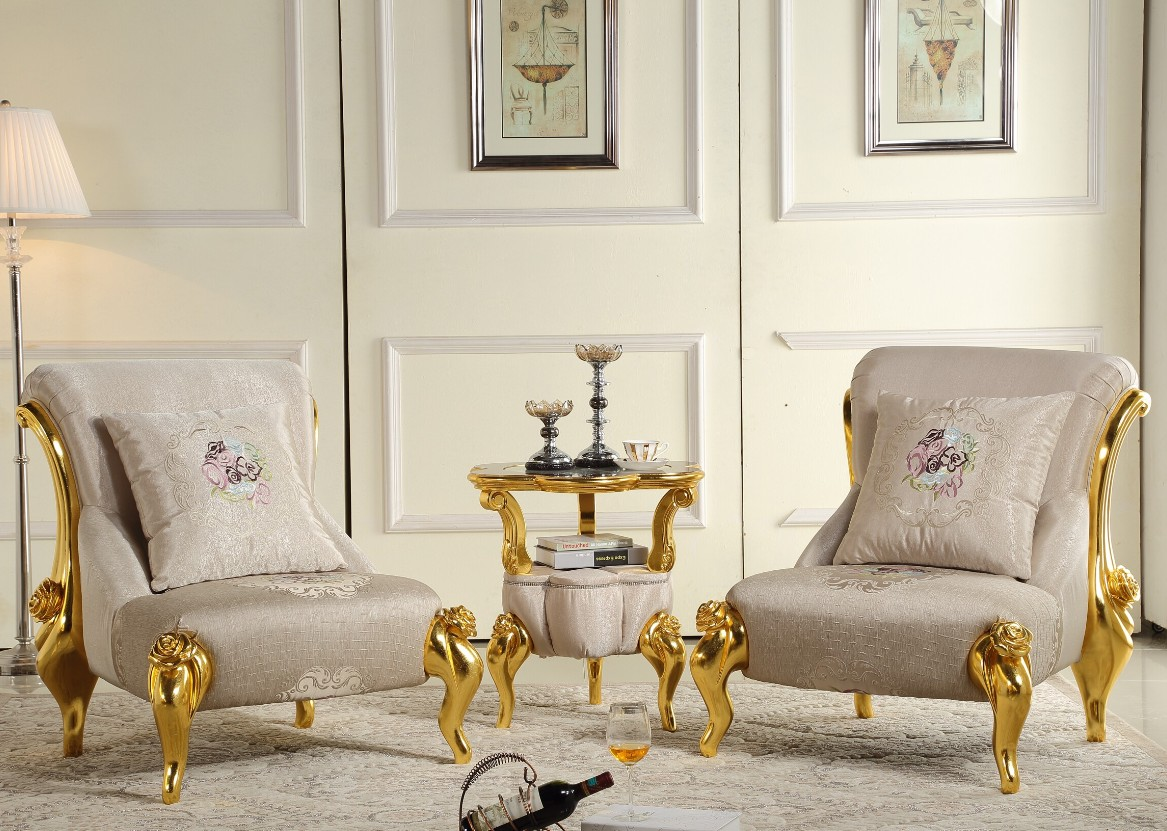 European Style Classical Single Sofa Living Room Fashion Leisure Chairs And Tables Three Sets Of Beauty Salon Sofa Стол