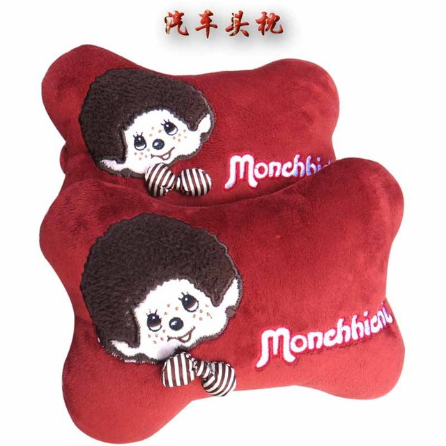2016 fashion  plush embroidery  pillow Car Headrest  Neck Safety car seat covers pillow headrest  Auto accessories Car Styling