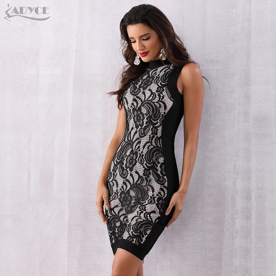 Adyce Sexy Floral Lace Club Dress H3658