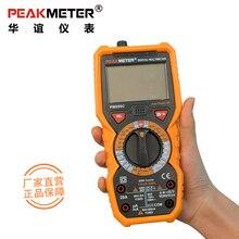 PM890C PEAKMETER Цифровой мультиметр Частота Температура hFE НТС Многофункциональный тестор напряжение сопротивление емкость