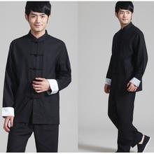 Мужской Хлопковый костюм Tai Chi, льняная рубашка Кунг-фу+ штаны, комплект, китайский традиционный Shao lin, комплект кунг-фу, Униформа, костюм Тан, одежда тайцзи