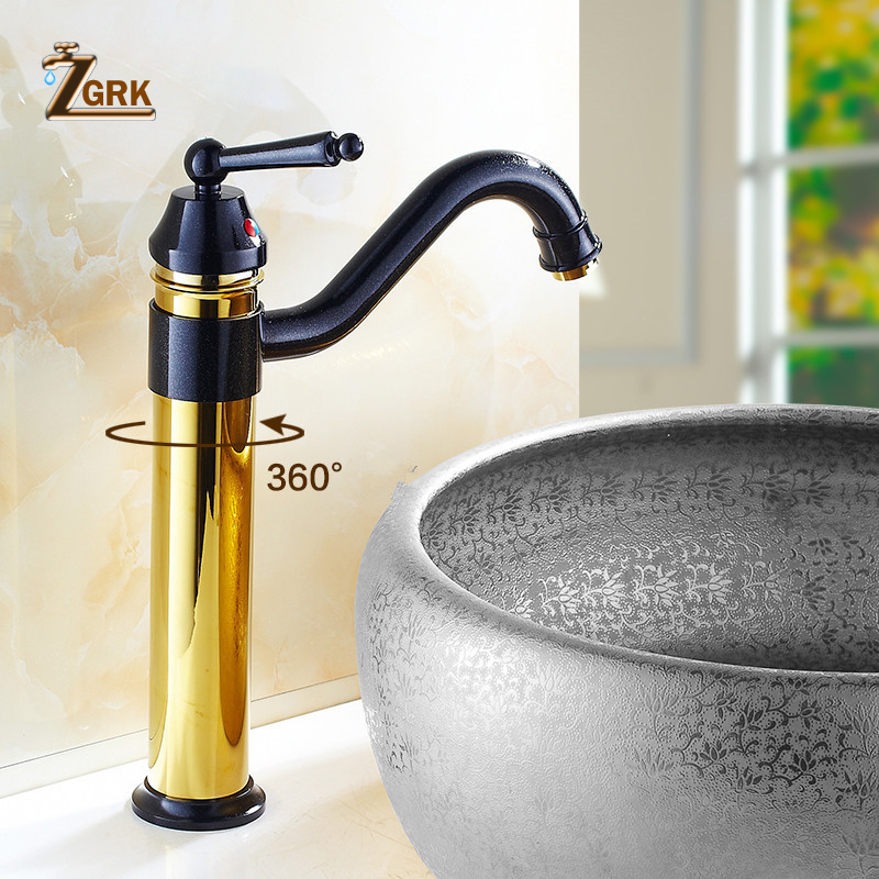 Bathroom Basin Mixer Elegant golden faucet sink faucet hot and cold water taps crystal white basin vessel sink faucet single lever countertop bathroom mixer taps with hot and cold water