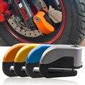 2016 seguro protege la motocicleta contra el ladrón mango rueda de freno de disco de bloqueo de alarma de seguridad de la motocicleta eléctrica accesorios de orange color