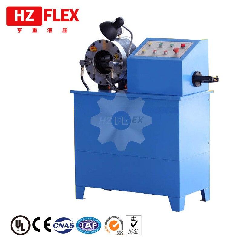 Popular en Rusia HZ-50D 2 pulgadas pelado y prensado & automático ce Prensado hidráulico manguera máquina