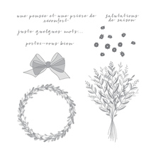 Flower Crown Clear Stamp For Scrapbooking Rubber