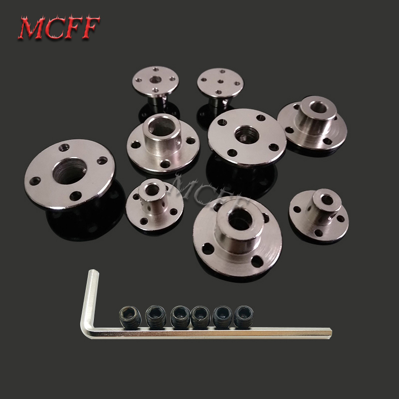 Image 5 - 3mm 3.17mm 4mm 5mm 6mm 6.35mm 7mm 8mm 10mm 11mm 12mm Rigid Flange Coupling Motor Guide Shaft Coupler Motor Connector-in Parts & Accessories from Toys & Hobbies