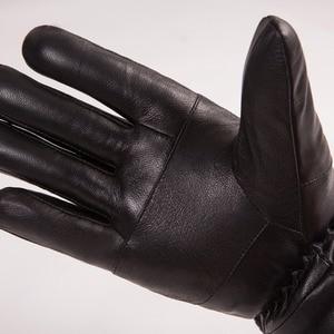 Image 5 - MPPM Hot Sale Men sheepskin gloves genuine leather glove for men winter Outdoor warm fur thickening thermal patchwork gloves
