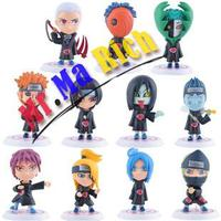 "11pcs/lot Full Set Q Edition Naruto Anime Action Figures Collection Pvc 3"" Naruto Figures Model Toy Set Brinquedos Free"