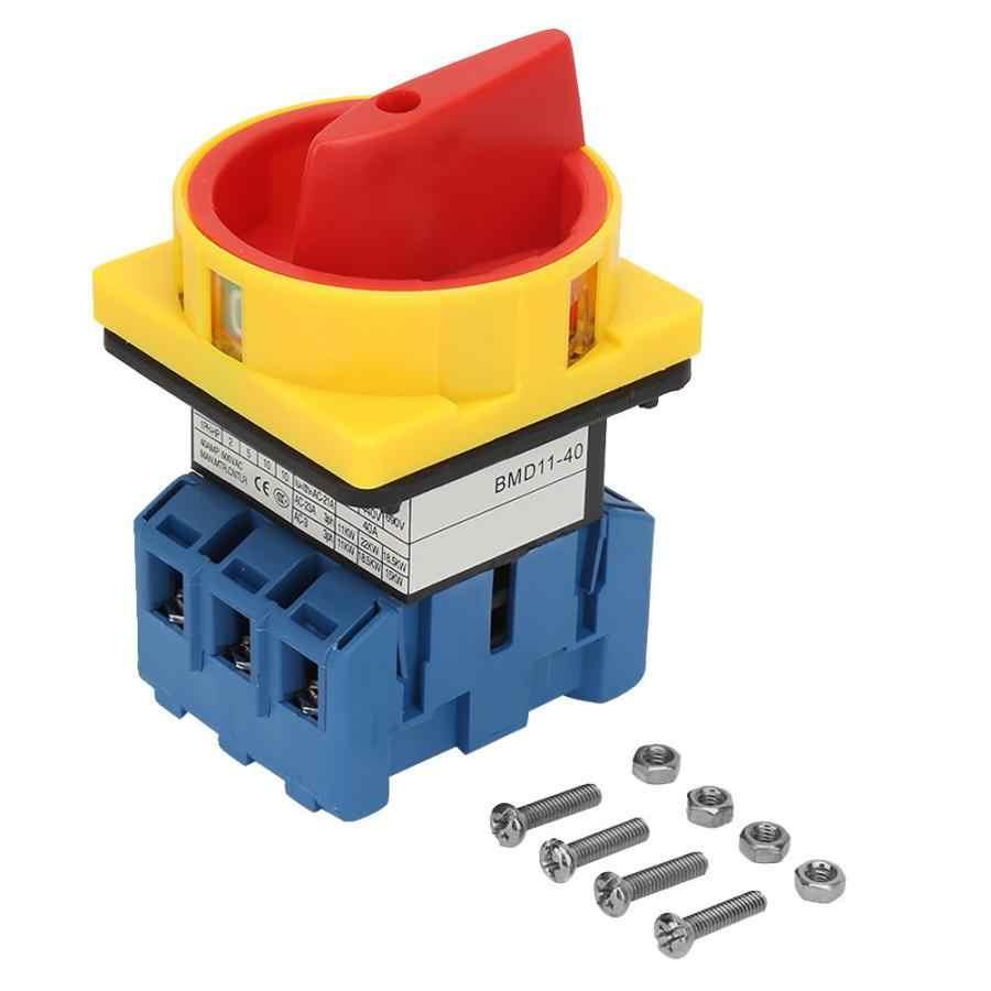 40A/63A нагрузки выключатель 3-полюсный 2-х позиционный Выключатель поворотный кулачок ВКЛ-ВЫКЛ Мощность выключатель автоматический выключатель постоянного тока
