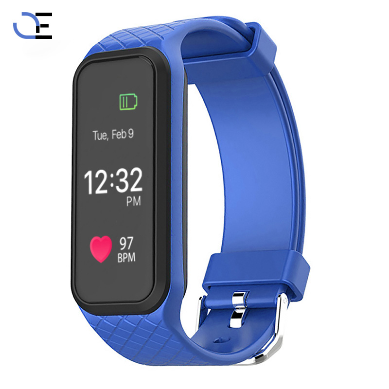 Bluetooth Smart Bracelet Heart Rate Monitor Smart Wristwatch Fitness Full color TFT-LCD Screen Smart watch for IOS Android Phone
