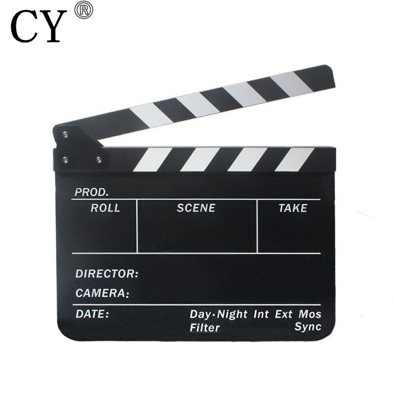 Nouveau Acrylique Clapper Conseil Anglais Noir et Blanc Clap Film D'action Clap Ardoise