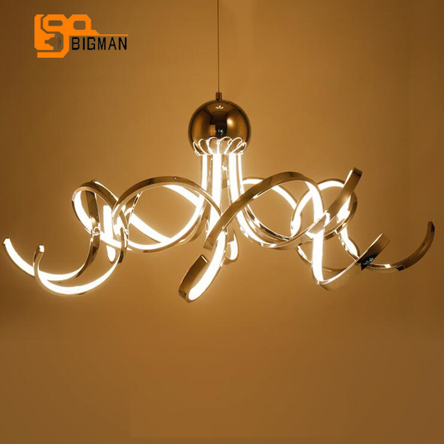 spiral design LED chandelier modern lighting wideth 80cm hanging lamp  living room shop lights a69d8f0ec